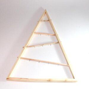 2. sortering - Juletræ trekantet træramme - 95 cm høj