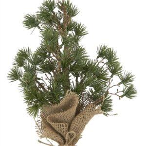 2020 - Juletræ - lille cedertræ i plast - H: 34 Ø: 20 cm