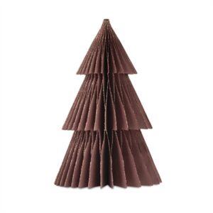 2020 - Papir juletræ i papir fold fra Skinbjerg - aubergine - 13 cm
