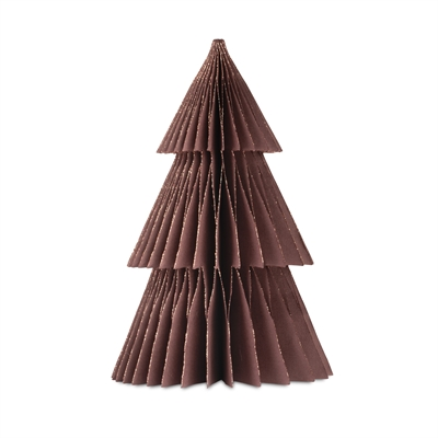 2020 - Papir juletræ i papir fold fra Skinbjerg - aubergine - 37 cm