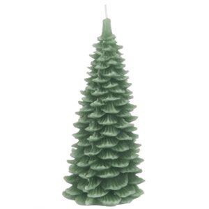 2020 - Stearinlys fra Ib Laursen - juletræ grøn - H15 cm
