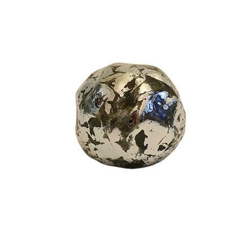 Antik kugle - Sølvfarvet Ø 7 cm