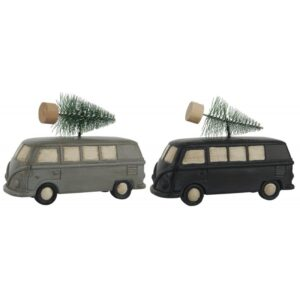 Bil / Rutebil m/ juletræ - Ib Laursen - Stående grå el. sort
