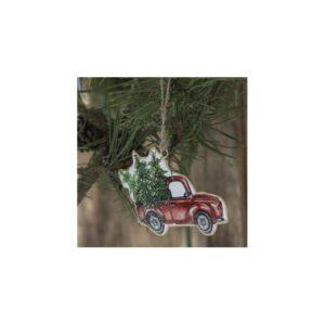 Bil t/ophæng med juletræ - Ib Laursen