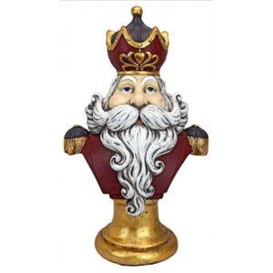 Buste med kongen af jul H65 cm
