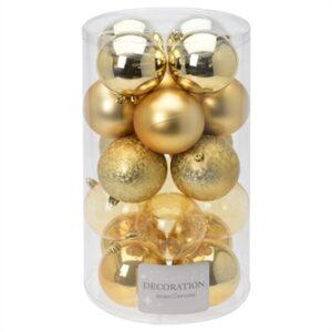 Christmas balls Gold 8 cm, 20st.
