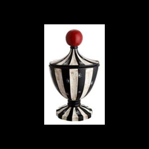 Dekorativ krukke med snefnug H52,5 x B30 cm - Sort/Hvid