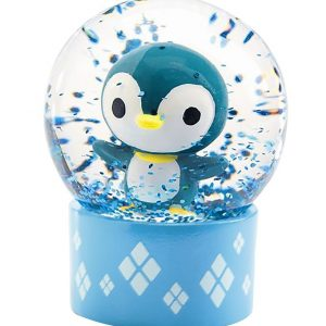 Djeco Snekugle - 6 cm - Blå m. Pingvin