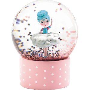 Djeco Snekugle - 6 cm - Rosa m. Ballerina