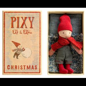 """Elf """"Pixy"""" - Maileg - elf dreng i tændstikæske"""