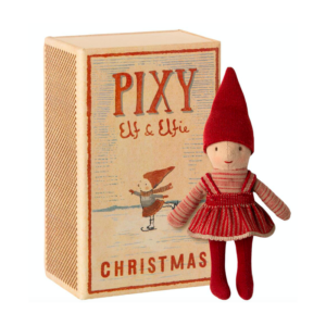 """Elfie """"Pixy"""" - Maileg - elf pige i tændstikæske"""