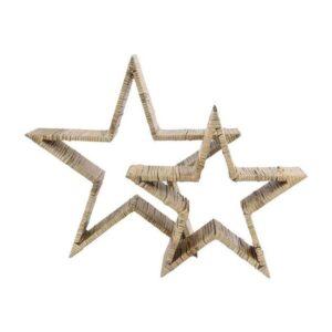 Flet stjerner - Natur - Ø 34 og 44 cm - 2 stk