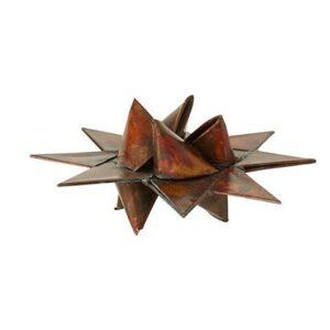 Flettet julestjerne i metal - Ø 10 cm - Antik bronzefarve