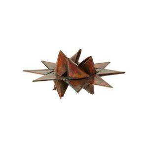 Flettet julestjerne i metal - Ø 7 cm - Antik bronze farve