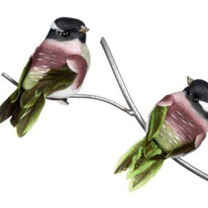 Fugl på klips 9 cm assorteret - Grøn