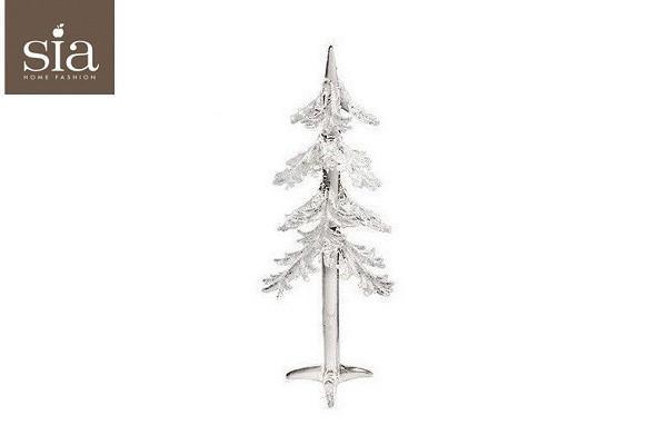 Glas juletræ med sne ( 22. cm. ) fra SIA