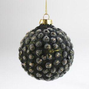 Glaskugle - Rustik Army Grøn - Ø 8 cm