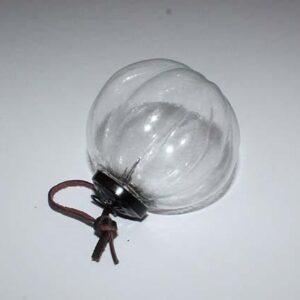 Glaskugle - Tago med lædersnor - Ø 5 cm