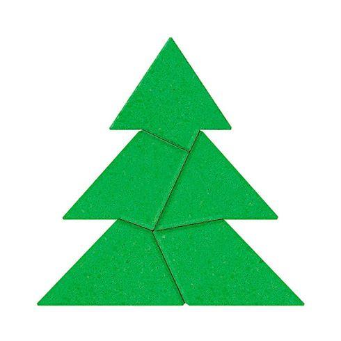 Hjernevrider puslespil i sten juletræ
