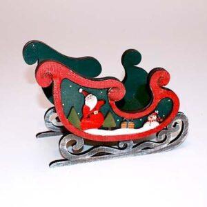 Julekane til dekoration - Grøn - 19.5 cm