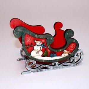 Julekane til dekoration - Rød - 19.5 cm