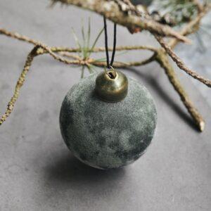 """Julekugle """"Flock"""" mørk grøn - House Doctor Dia: 5,5 cm"""