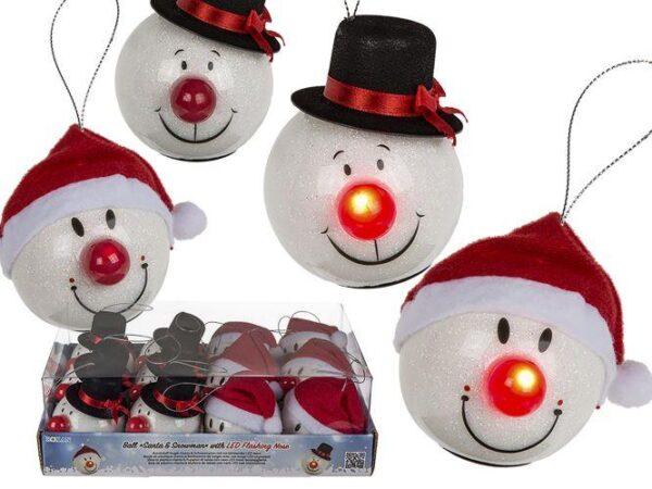 Julekugle med lys