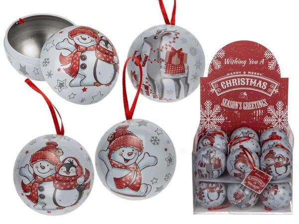 Julekugle med rød snor