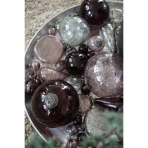 Julekugle mini mundblæst rosa - Ib Laursen