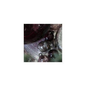 Julekugle mini mundblæst vinrød - Ib Laursen