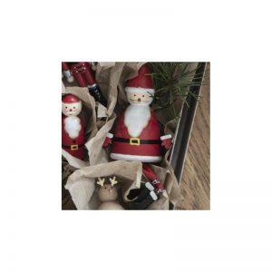 Julemand til ophæng m/ tynde ben håndmalet - Ib Laursen