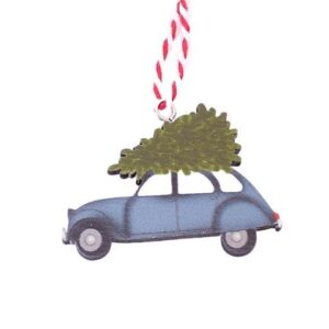 Juleophæng Driving Home - Blå bil