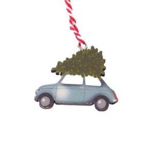 Juleophæng Driving Home - Grå bil