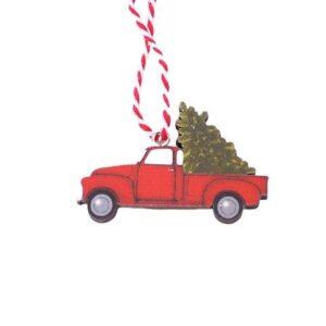 Juleophæng Driving Home - Rød lastbil