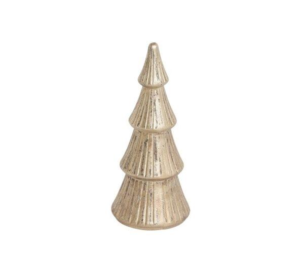 Juletræ H24 cm - Antik guld