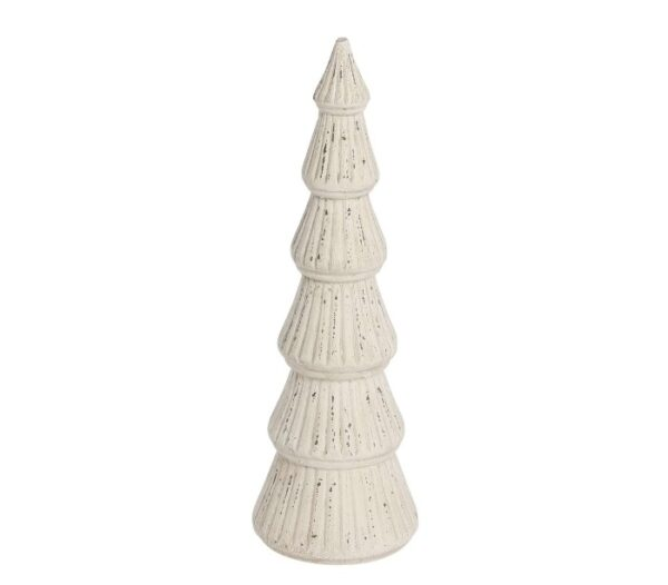 Juletræ H34 cm - Antik creme