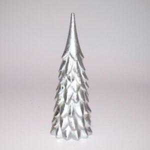 Juletræ - Polyresin -Sølv - 32 cm