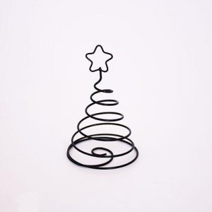 Juletræ - Teda A - Sort metal - Ø 8 x 15 cm
