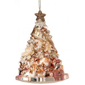 Juletræ glasophæng Ø10 cm