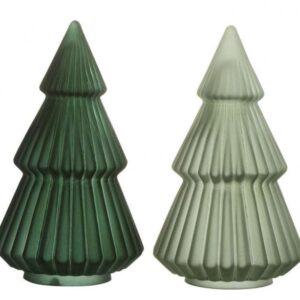 Juletræ i glas H27 x Ø15 cm - Assorteret grøn