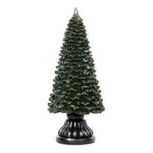 Juletræ i polyresin H23,5 cm - Antik grøn