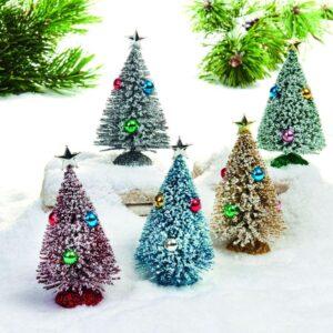 Juletræ med sne