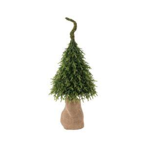 Juletræ på klump H85 cm - Grøn