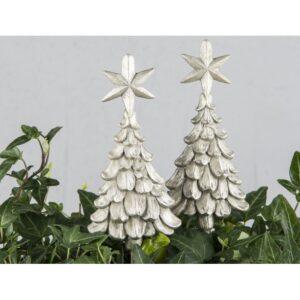 Juletræ på pind til krans 5 x 11 cm - Champagne