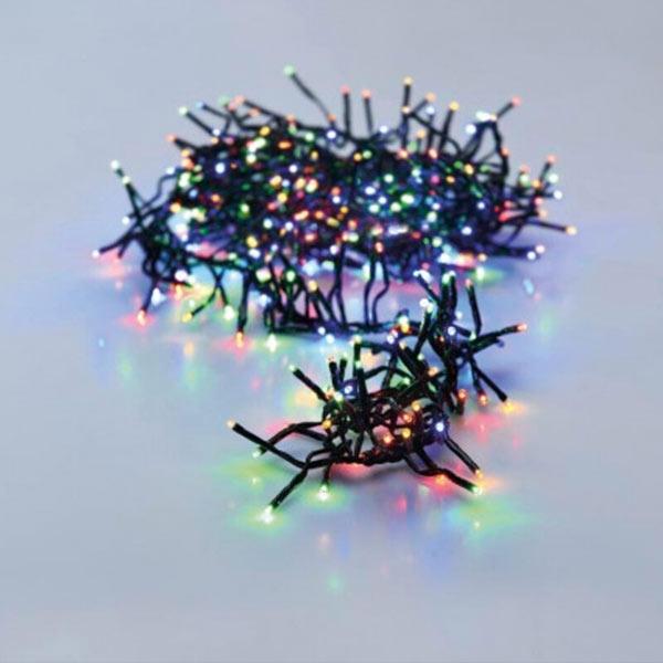 Klynge lyskæde i multifarvet 384 LED - 3 m
