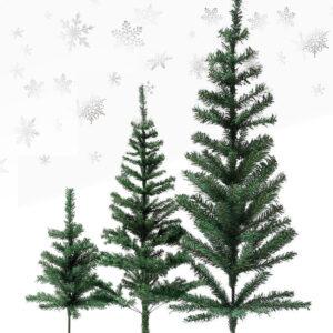 Kunstig plastik juletræ (3 størrelser)