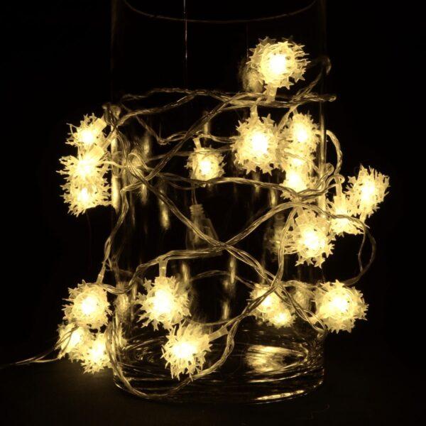 LED-Lyskæde med Stjernekugler 3 meter