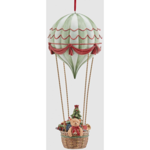 Luftballon med juledeko i polyresin H37 cm - Multi