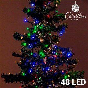 Multifarvede Julelys (48 LED)