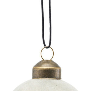 Ornament, Flock by House Doctor (Ø: 5,5 cm., Grå)